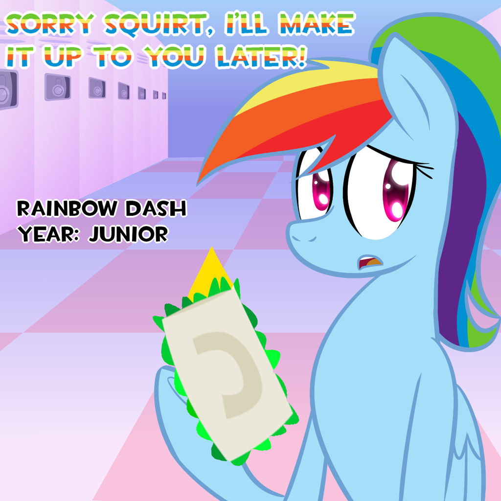 High School Rainbow Dash: Amazing Sandwich Grabber by