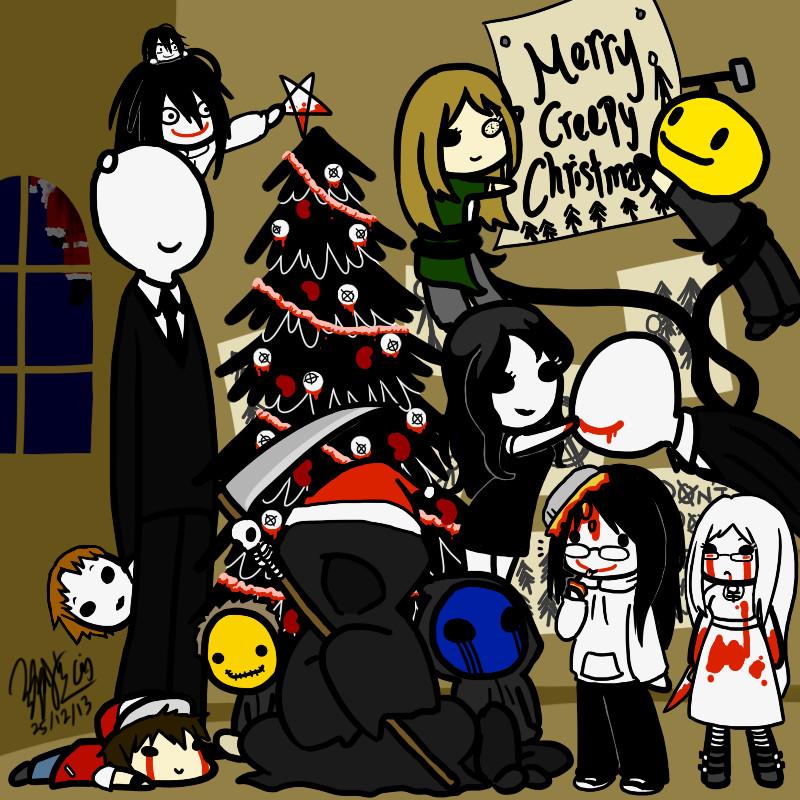Creepypasta Christmas by EdwardElricKun on DeviantArt