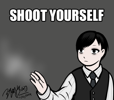 Shoot Yourself - Lucius meme by EdwardElricKun