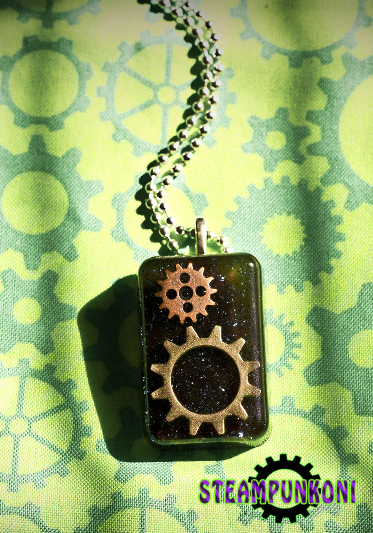 Gear Up - Cogs and Gears Necklace by SteampunkOni
