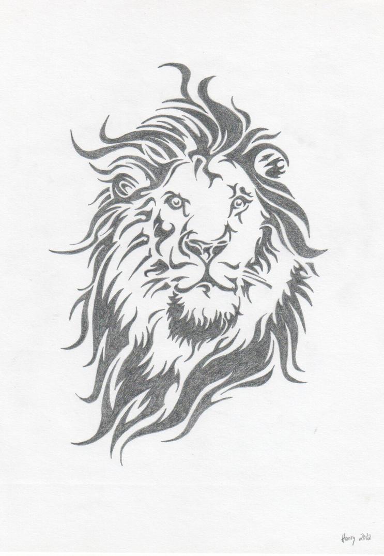 lion-tribal-drawing-tumblr