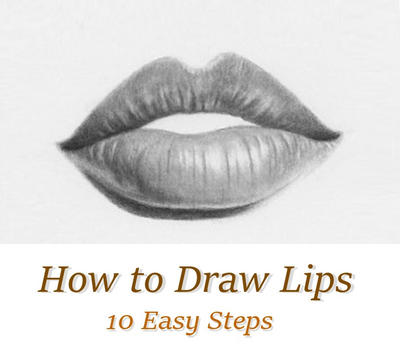 Tutorial how to draw lips easy by rapidfireart