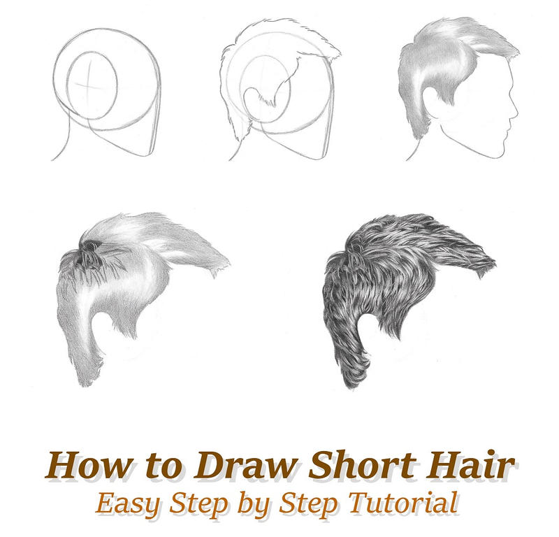 how to draw short hair by rapidfireart on deviantart