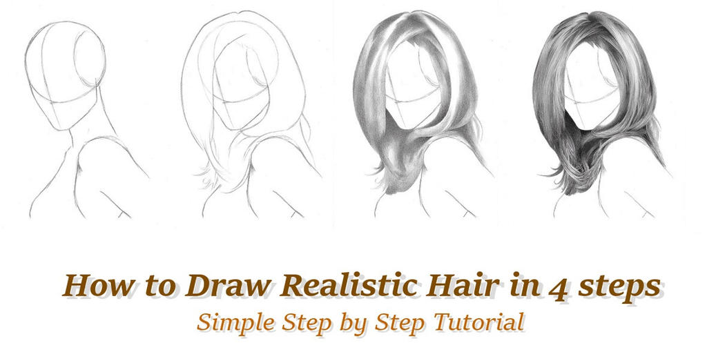 How to draw realistic hair in 4 steps by rapidfireart
