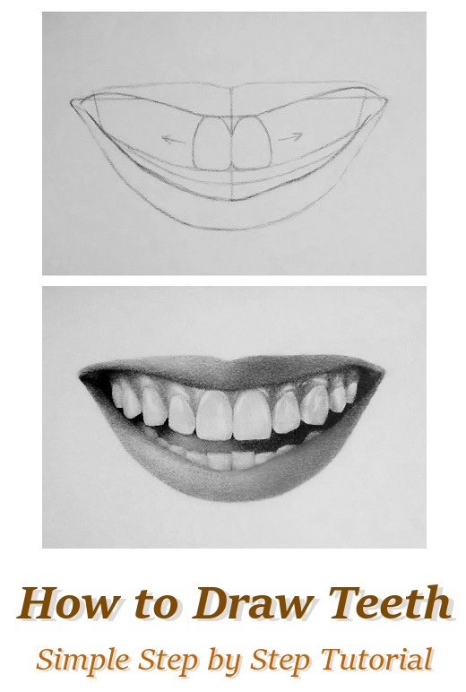 How to draw teeth easy by rapidfireart on deviantart