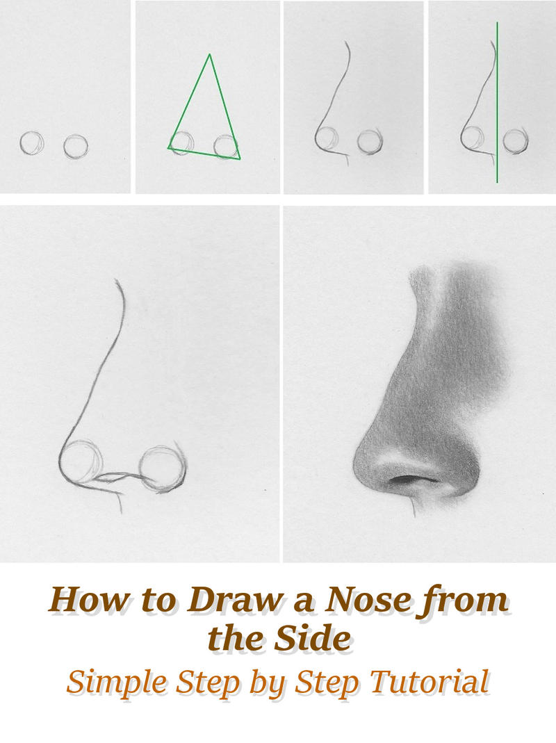 Rapidfireart 6 0 How To Draw A Nose From The Side  Tutorial By Rapidfireart