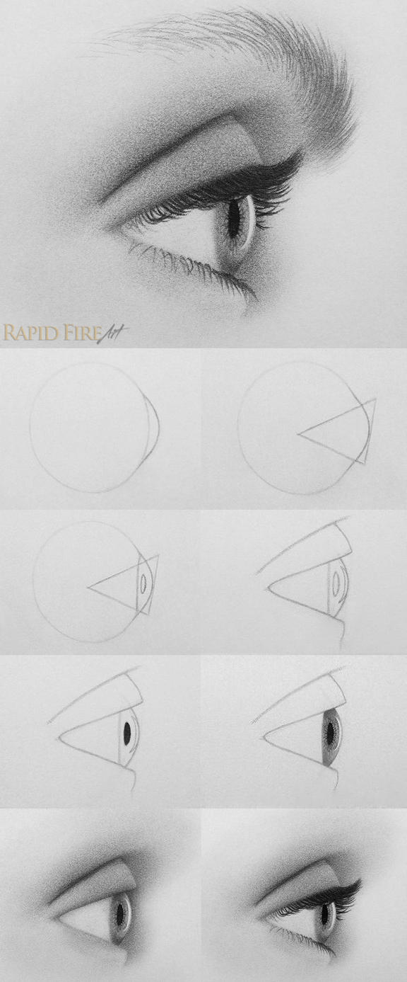 How To Draw Eyes From The Side By Rapidfireart