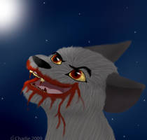 Werewolf At Full Moon by Charlie-Breen