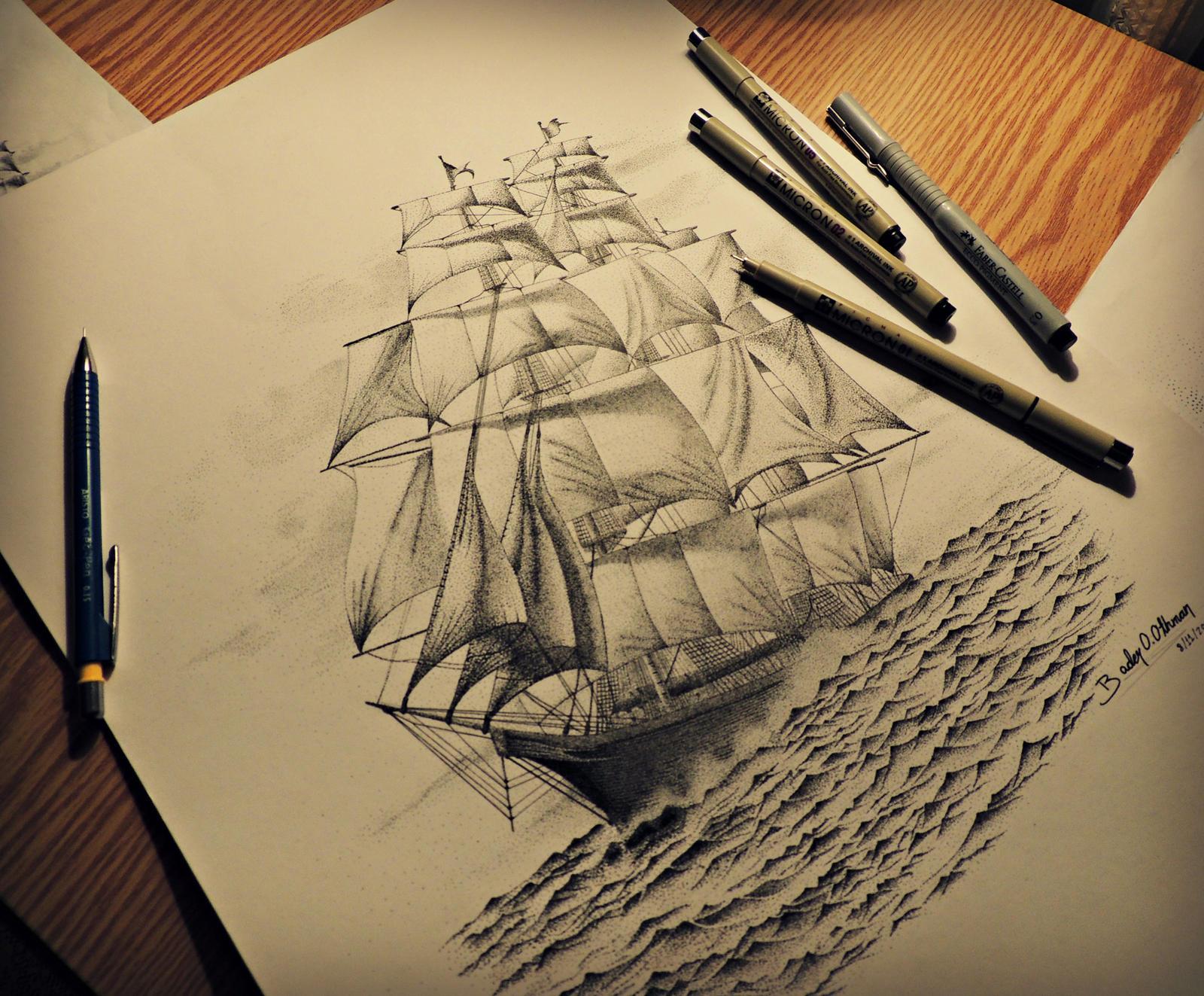 pirate ships drawings