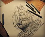Pirate Ship (stippling)