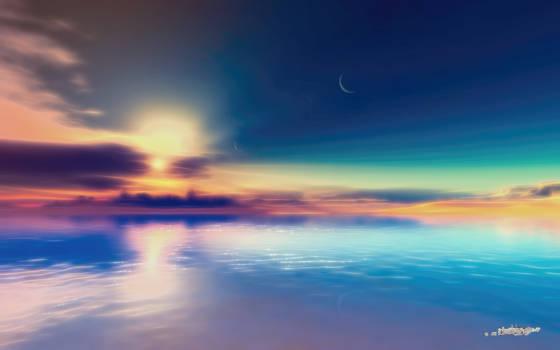 Two-Moon Beach by LightDrop