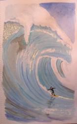 Surfing. by TinaLouiseBrown