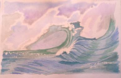 Big Wave 1 by TinaLouiseBrown