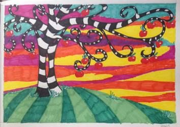 OP Art Tree by TinaLouiseBrown