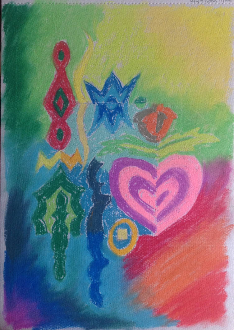 Notan with Pastels by TinaLouiseBrown