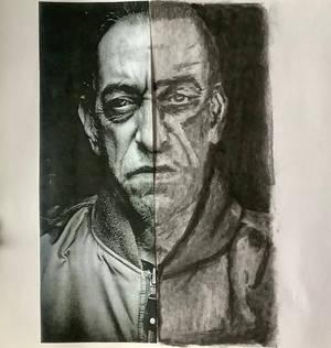 Subtractive Half Portrait