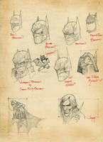 batman sketches by OldManLefty