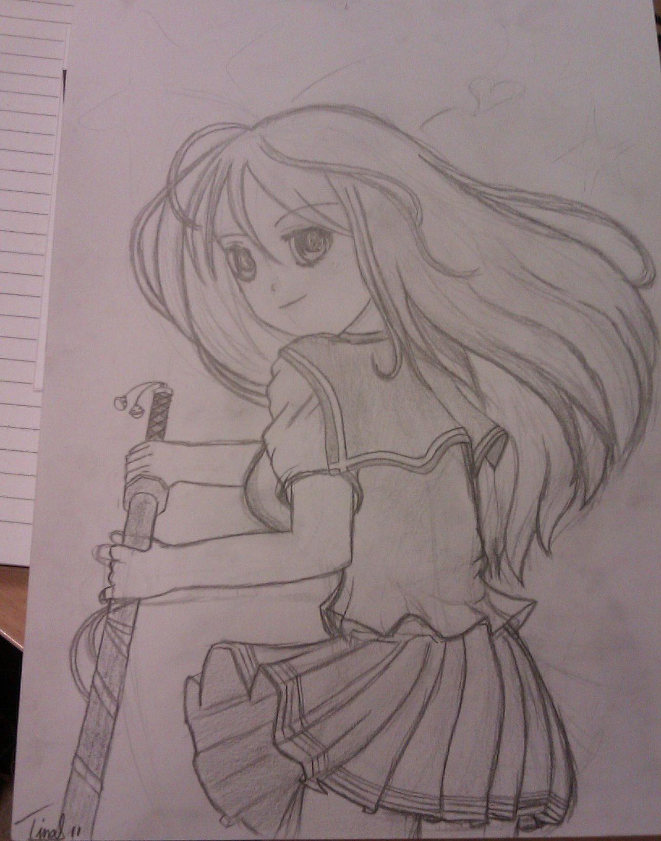 Manga schoolgirl by mirry92