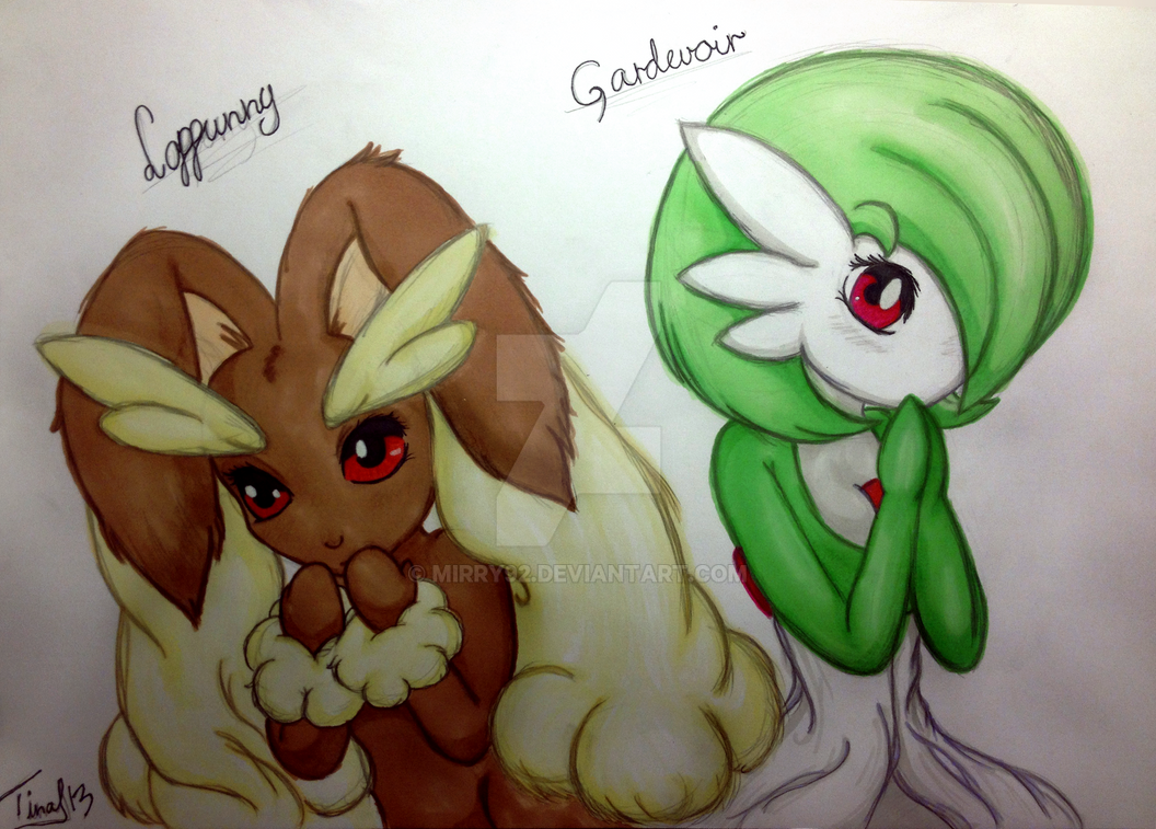 Lopunny And Gardevoir Promarker By Mirry92 On Deviantart
