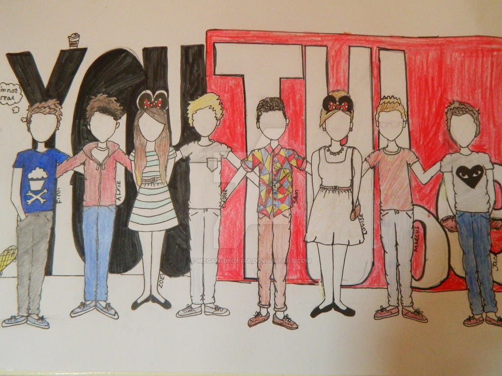 D Line Drawings You Tube : The youtube crew by megan georgia on deviantart