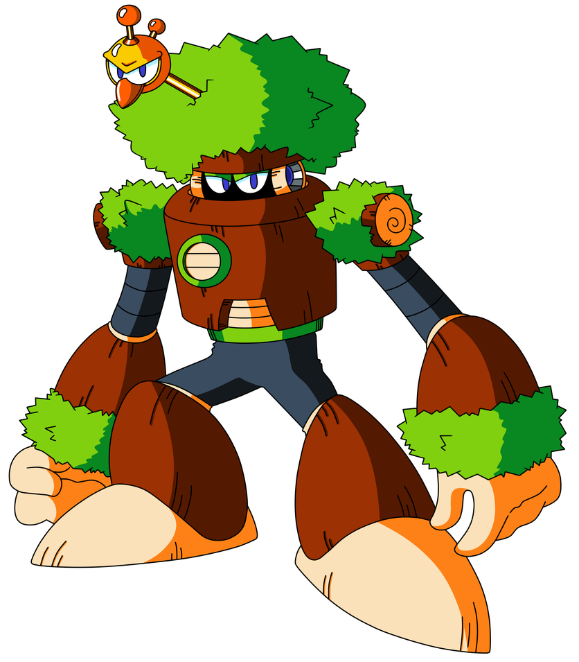 Mega Man TT's Forest Man by JusteDesserts