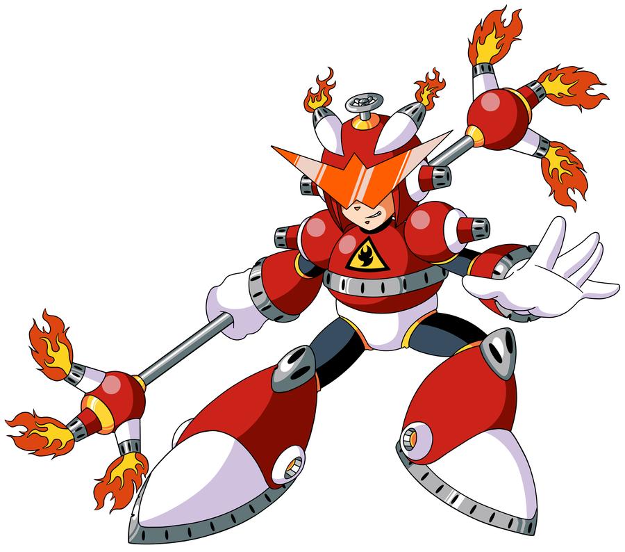Mega Man TT's Ignite Man by JusteDesserts