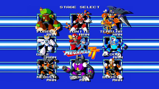 Mega Man TT Stage Select Wallpaper