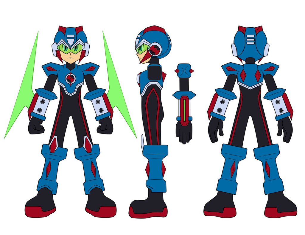 Mega Man BN Chrono X's (outdated) Zeta Redesign by JusteDesserts