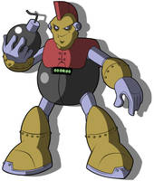 Mega Man Redux's Bomb Man with no Coat by JusteDesserts