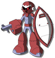 Mega Man Redux's Break Man with Weapons by JusteDesserts