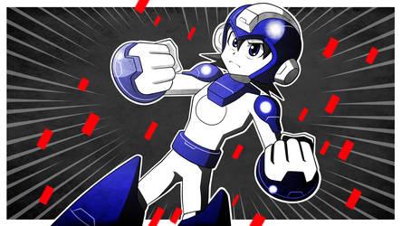 Mega Man Redux Visual Novel CG Mega Man Appears