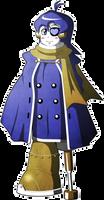 Mega Man Redux Visual Novel Norma sprite 1 (Cloak)