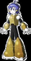 Mega Man Redux Visual Novel Norma sprite 1 (Young)