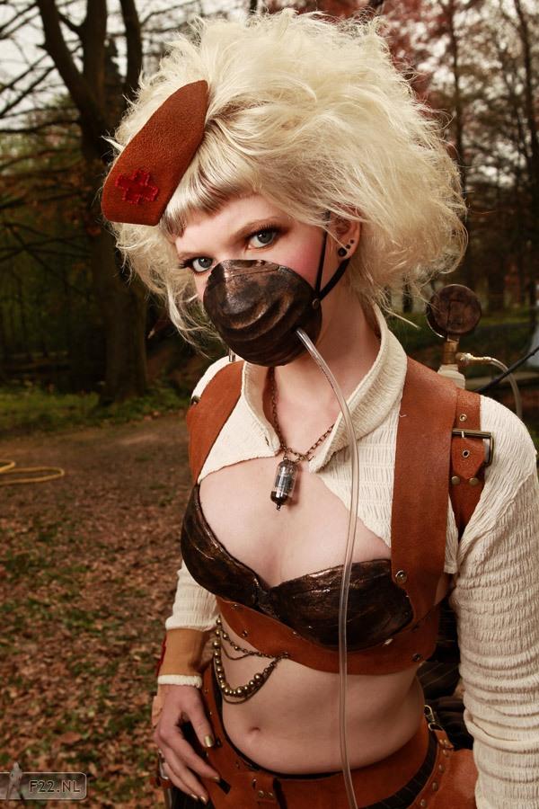 Steampunk Nurse by lil-Linny