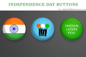 Independence Day Buttons by shilpa84