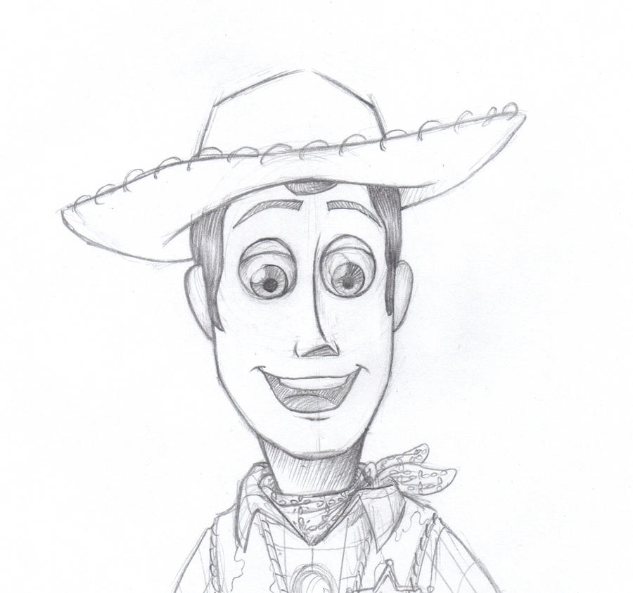 how to draw woody off of toy story