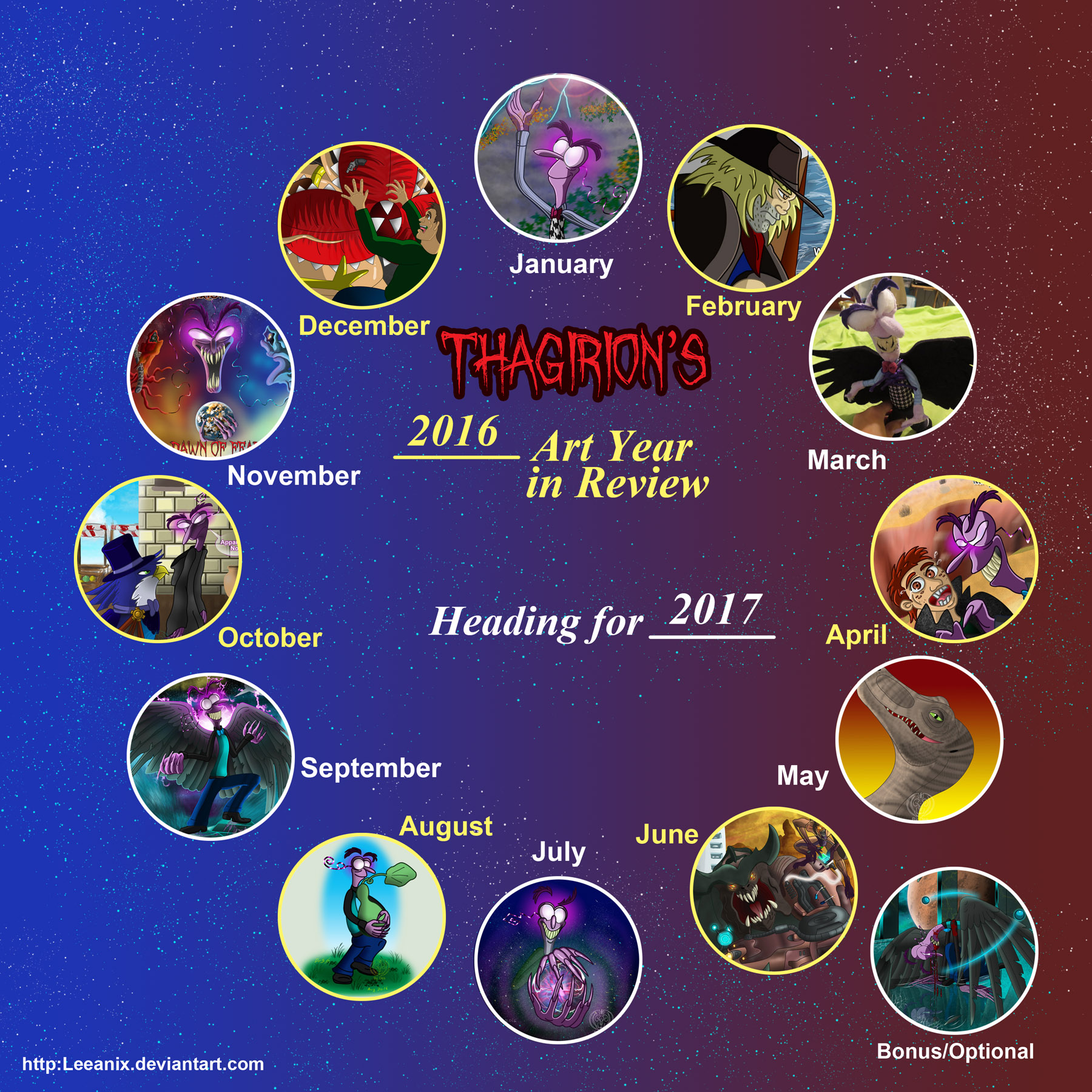 Art Year In Review 2016 by Thagirion