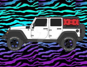 Commission White Jeep Wrangler