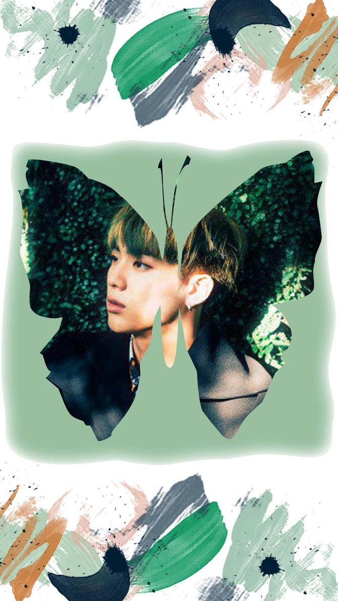 Lockscreen BTS BUtterfly Jin by Arroyanyart on DeviantArt
