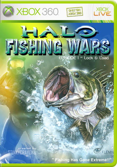 Xbox 360 halo fishing wars by stinkycrayons on deviantart for Xbox 360 fishing games
