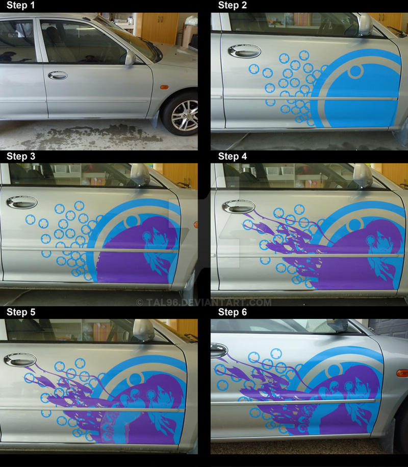 Persona 3 car decal process by tal96