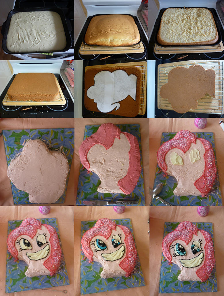 Birthday Cake Images With Name Pinky : Pinkie Pie cake process by Tal96 on DeviantArt