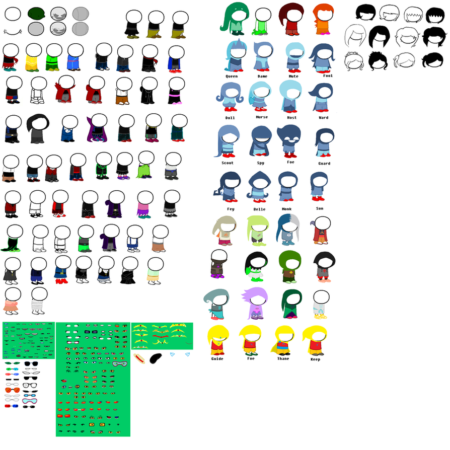 Homestuck Fanmade bases by Canine-tier