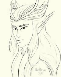 Thingol Sketch by NatRDraws