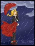 Edward in the Rain