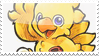 Chocobo stamp, Chrno's present by MaochanHime
