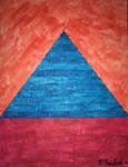 Triangle Blue on Red by Highway99