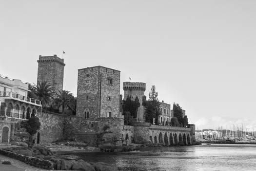 Modern Castle in water