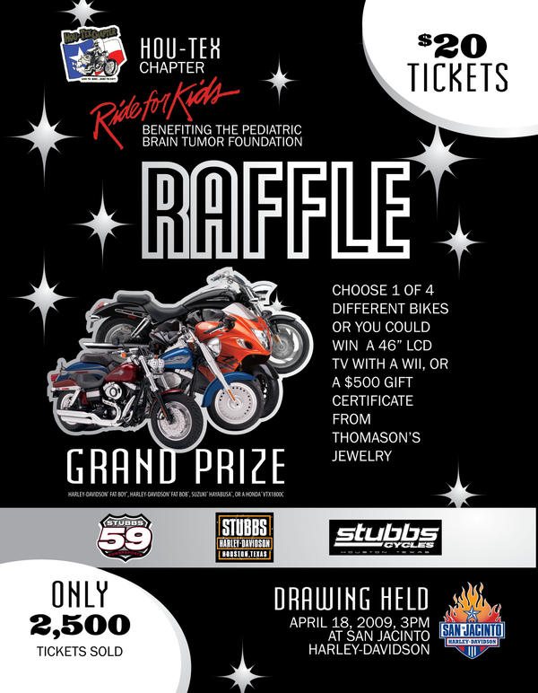Ride For Kids Raffle Ticket Ad