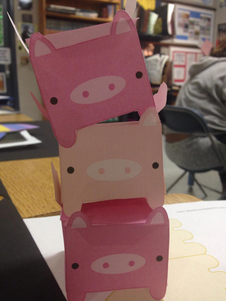 Leaning tower of piggy by Kitte-chan
